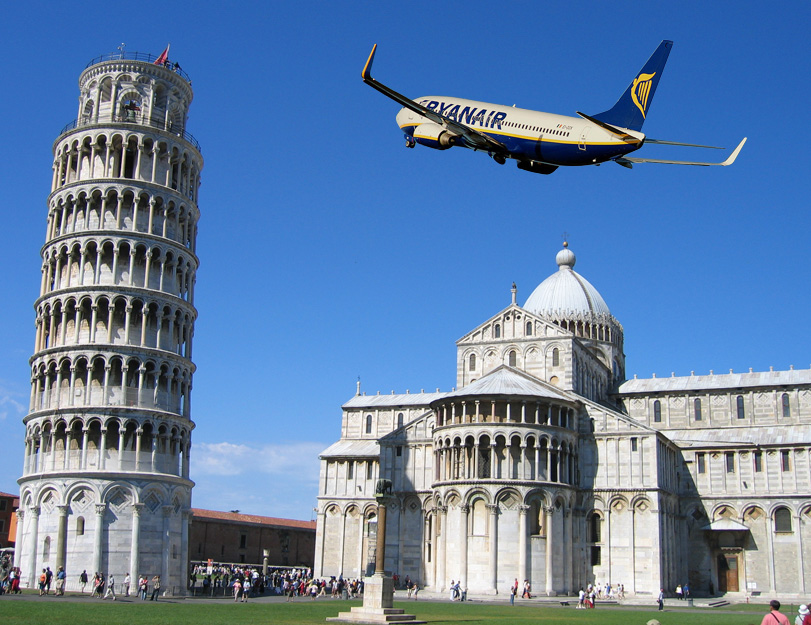Ryan Air лети от София до Пиза